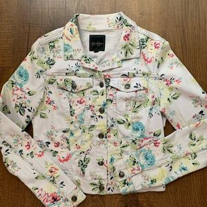 Floral Denim jacket size small by Jessica Simpson